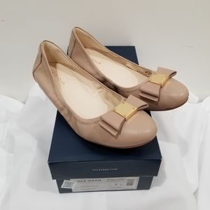 Cole Haan Tali Bow Nude Flats - Size 7